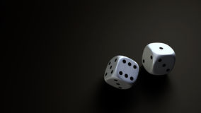 Dice at black background wide Stock Photography