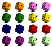 Dice with black dots Stock Photography