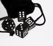 Dice black. fives Royalty Free Stock Images