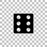 Dice icon flat royalty free illustration