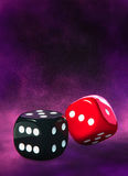 Dice, black and red Stock Images