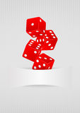 Dice blank Royalty Free Stock Images
