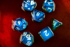 Dice blue Royalty Free Stock Photo