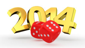 Dice break year 2014 Stock Images