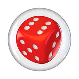 Dice in bubble Royalty Free Stock Photos