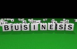 Dice business Royalty Free Stock Photos
