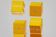 Dice and business success Stock Photos