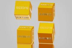Dice and business success Stock Photos