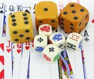 Dice & Cards royalty free stock photos