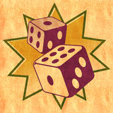 Dice - Casino illustration Royalty Free Stock Photo