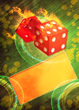 Dice and casino Royalty Free Stock Photos