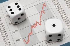 Dice on Chart Stock Image