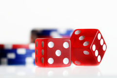 Dice and Chips Stock Images