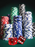 Dice and Chips Royalty Free Stock Image