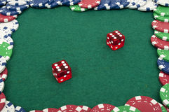 Dice and chips Stock Image