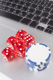 Dice With Chips Stock Image