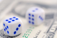Dice- close-up pictures Royalty Free Stock Photo