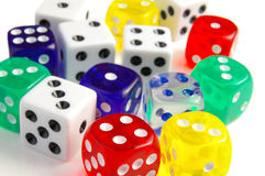 Dice closeup Royalty Free Stock Image