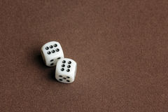 Dice on cloth Royalty Free Stock Photo
