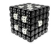 Dice. Stack as a puzzle, complexity or integrity metaphor - Black and white cubes grid royalty free illustration