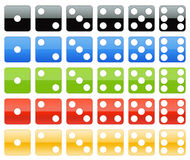 Dice collection Royalty Free Stock Photo