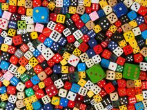 Cube dice collection Royalty Free Stock Images