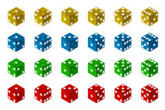 Dice Collection. Translucent Dice Collection 3D Illustration (with clipping path Stock Image