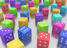 Dice colors random Royalty Free Stock Photo