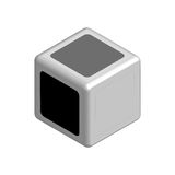 Dice concept black or white in 3D. Vector Royalty Free Stock Image