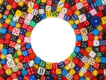 Dice with copy space Royalty Free Stock Image