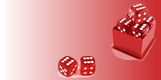 Dice with copyspace Royalty Free Stock Image