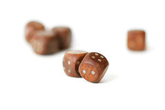 Dice cube closeup zoom Royalty Free Stock Photography