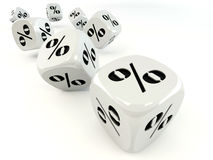 Free Dice. Cube With Percent. Royalty Free Stock Images - 13969449