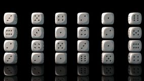 Dice cubes collection Royalty Free Stock Images