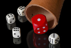 Dice cup Stock Images