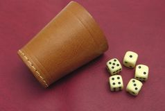 Dice Cup And Dice Royalty Free Stock Images