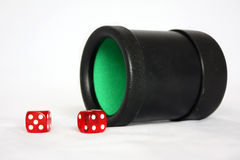 Dice Cup with Dice Royalty Free Stock Photography