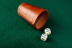 Dice cup Royalty Free Stock Photos