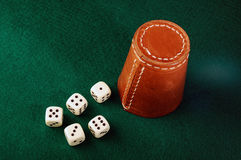 Dice cup Royalty Free Stock Photo