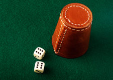 Dice cup Stock Photography