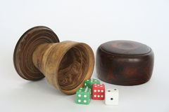 Dice cup set Stock Photography