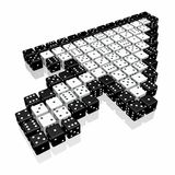 Dice cursor Stock Photo