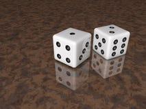 Dice  in 3D illustration Stock Image