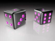 Dice  in 3D illustration Stock Photography