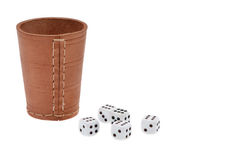 Dice with dice cup Stock Images