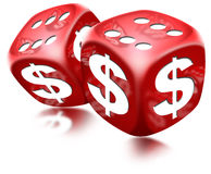 Dice Dollar Game Royalty Free Stock Photos