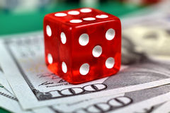 Dice and dollar Royalty Free Stock Photography