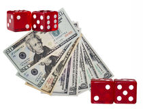 Dice and Dollars stock photos