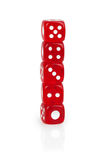 Dice on each other Stock Photography