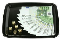 Dice and euro Royalty Free Stock Photo